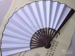 diy wedding fans large white personalized fans silk folding fan