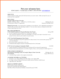 It Project List Template Fresher Resume Template Resume For Your Job Application