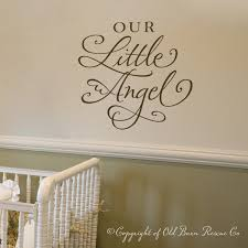 vinyl wall decal our little angel vinyl lettering calligraphy