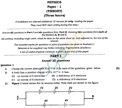 isc class xii exam question papers 2012 physics aglasem schools