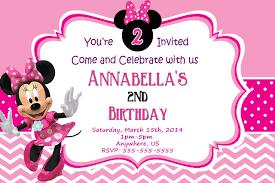Customized Birthday Invitation Cards Minnie Mouse Birthday Invitations Custom Free Invitations Ideas