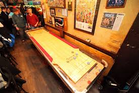 How Long Is A Shuffleboard Table by Shuffleboard As A Bar Game The New York Times