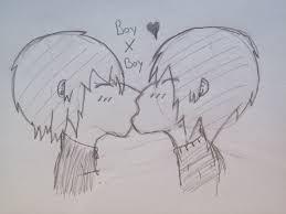 anime twin boys kissing drawing hinataisshy 2017 jul 24 2012
