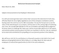 retirement announcement retirement announcement letter writing professional letters