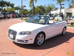 white audi a4 convertible for sale 2008 audi a4 2 0t cabriolet in ibis white 005720 auto jäger