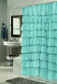 bathroom curtain ideas for shower green ruffled shower curtain ideal tips for ruffled shower
