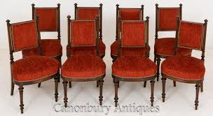 William Iv Dining Chairs Set 8 William Iv Mahogany Dining Chairs 1800