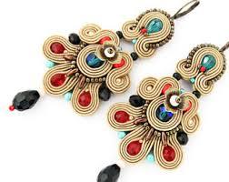 soutache earrings chandelier soutache earrings dangle earrings large