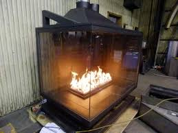 double sided gas fireplace napoleon hd81 see thru two sided gas