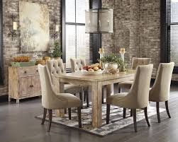 Tufted Upholstered Chairs 7 Piece Dining Set With Upholstered Side Chairs By Signature