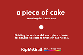 think idioms are a piece of cake try these 50 idioms flashcards