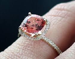 padparadscha sapphire engagement ring padparadscha etsy