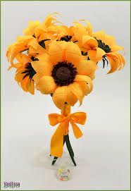 SUNCOKRETI od papira studia Paper flowers handmade by VASILISSA