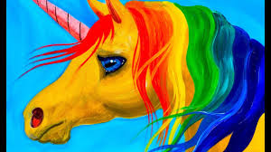 easy learn to paint rainbow unicorn acrylic tutorial beginners and