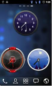 analog clock widgets for android go launcher ex gets skinnable analog flip clock widget android