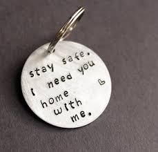 stay safe keychain i need you home with me police officer