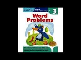 word problems kumon math workbooks grade 3 youtube