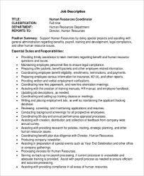 Human Resources Job Description Resume Job Description Sample Product Marketing Manager Job Description