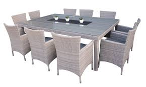 Gray Wicker Patio Furniture by Medina 11pc Wicker Dining Setting