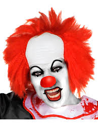 scary clown halloween mask mens red clown wig bald head scary killer clown halloween fancy