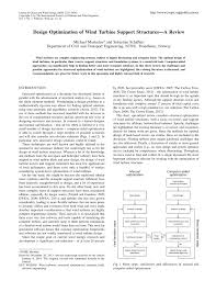 design optimization of wind turbine support structures a review