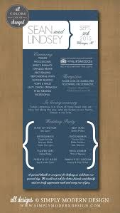Wedding Program Ceremony Modern Wedding Ceremony Program Order Of Ceremony Reception