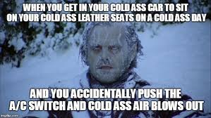 Cold Meme - to reverse the popular meme that talks about a hot car in a hot