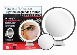 lighted travel makeup mirror 15x 15x makeup mirror lighted inspirational 10x magnifying mirror with