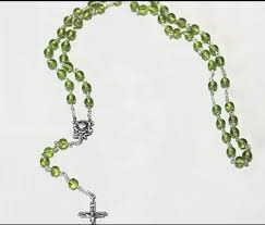 birthstone rosary august 2017 rosary of the month birthstone rosary with our