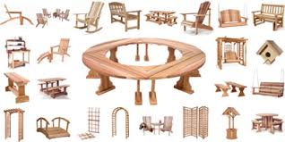 Cedar Patio Table Teak Cedar And Rattan Outdoor Adirondack Furniture Selections