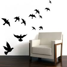 Bird Decorations For Home Wall Sticker Fly Bird Pattern Home Decor For Living Room Bedroom