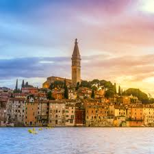 rovinj old town at night in adriatic sea croatia hotels reviews