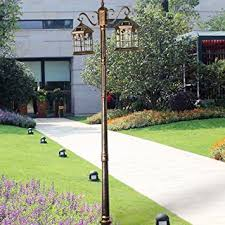 amazon com kendal 8 feet high outdoor solar lamp post with two