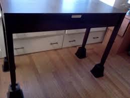 bedroom table leg risers bed risers target desk riser blocks