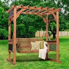 amazon com backyard discovery deluxe cedar pergola swing patio