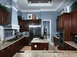 blue kitchen walls with brown cabinets image result for duck egg blue walls brown cabinets