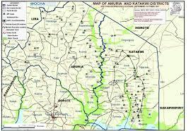 Uga Map Uganda Map Of Amuria And Katakwi Districts Wfp Distribution