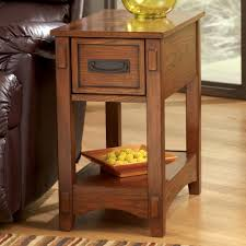 power chairside end table signature design by ashley breegin brown mission cross island