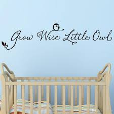grow wise owl quote vinyl art wall decal removable wall