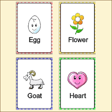 Words Cards Flash Cards For Children