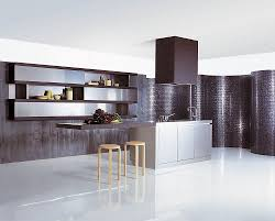 open shelving kitchen cabinets appliances shiny kitchen wall with custom rectangular island