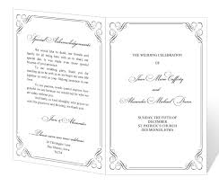 print wedding programs free downloadable wedding program template that can be printed