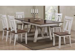 bernards winslow 7 piece two tone refectory table set royal