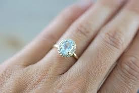14k yellow gold aquamarine diamond halo engagement love