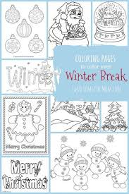 Christmas Winter Coloring Pages For Kids To Color Pages For To Color