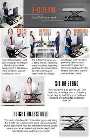 amazon com standing desk x elite stand steady standing desk