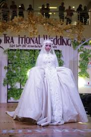 wedding dress muslimah bridal gown muslimah heart fahion parade by laksmi islamic