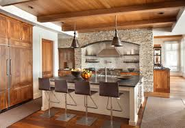 vacation home kitchen design inside a luxuriously remodeled montana vacation home open shelving