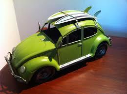 Vw Beetle Vase Accessories Vw Beetle Car Lime Green Volkswagen Tin Metal Collectible