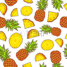 pineapple wrapping paper vector seamless pattern of pineapples on a white background